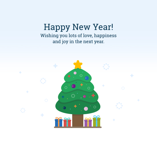 Happy New Year Card With Wishes.