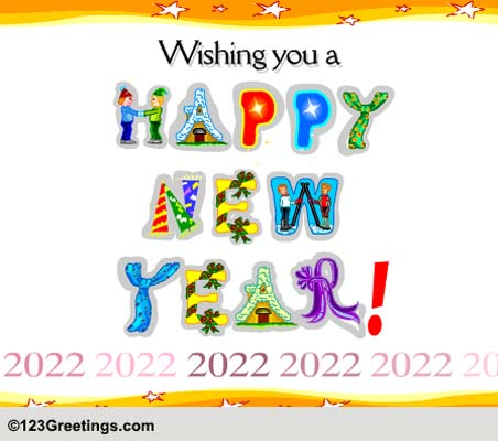 A Happy New Year! Free Happy New Year eCards, Greeting Cards | 123 ...
