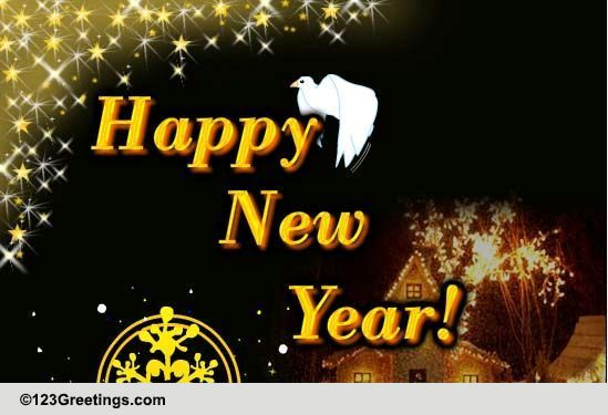 Messenger Of Peace And Joy! Free Happy New Year eCards ...