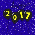 Happy 2017 New Year Balloons.