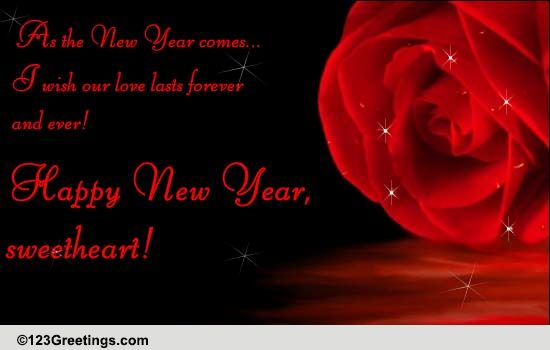 a romantic new year wish free love ecards greeting cards 123 greetings