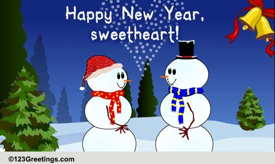 happy new year sweetheart free love ecards greeting cards 123 greetings
