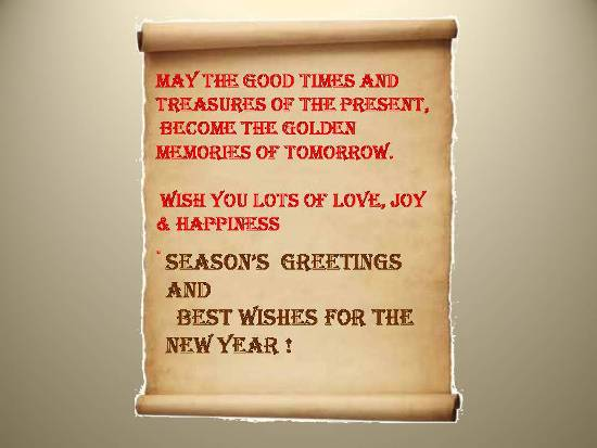 Convey Warm Season's Greetings.