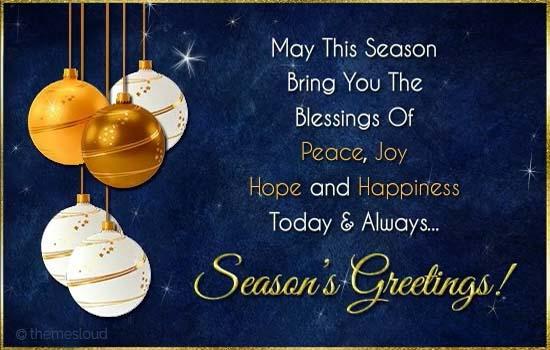may this season bring you free seasonal blessings