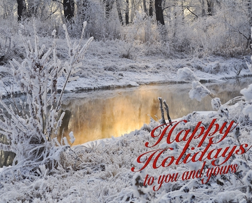 Happy Holidays To You...