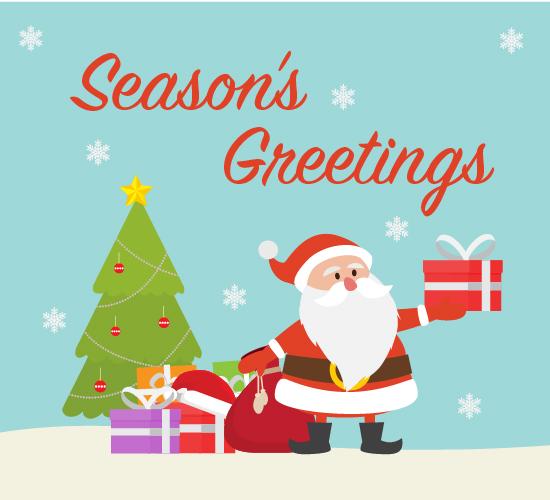 Santa's Friendly Greeting.