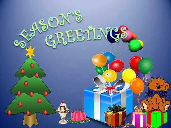 Season's Greetings For Ur Loved Ones.