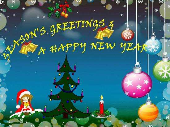 Season's Greetings & Happy New Year.