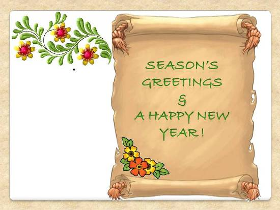 Greetings For A Wonderful New Year.