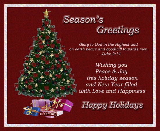Season&rsquo;s Greetings With Warm Wishes.