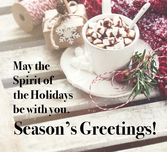 Warm Wishes For The Spirit Of Holiday.