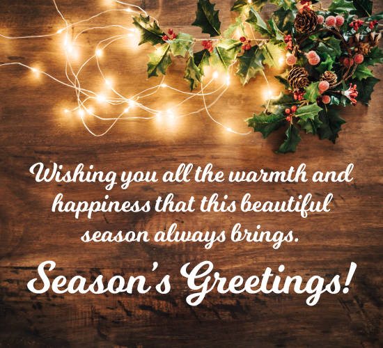 Warm Holiday Wishes...