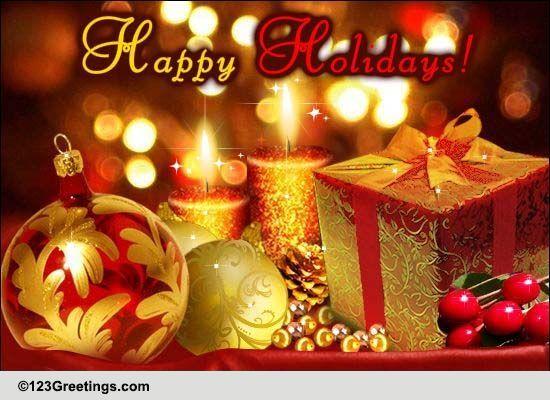 Season's Greetings Warm Wishes Cards, Free Season's Greetings Warm ...