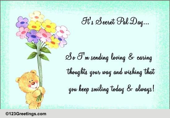 Loving And Caring Thoughts... Free Secret Pal Day eCards ...