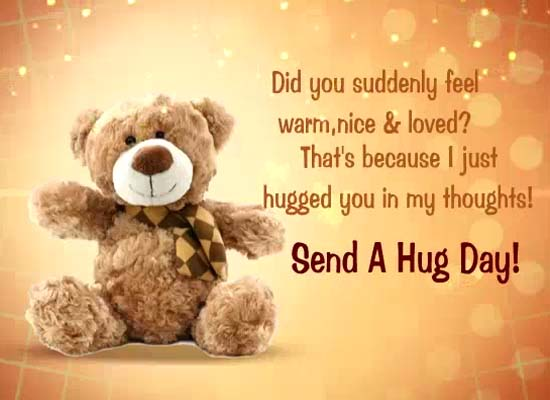 Send A Hug Day Ecard!