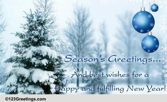Season's Greetings... Formal Wishes. Free Seasons Greetings eCards ...