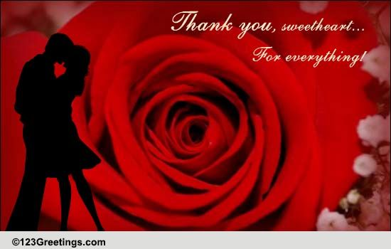 thank you kiss  free thank you ecards  greeting cards