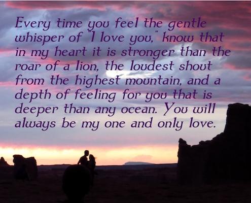 Send Whisper I Love You Ecard!
