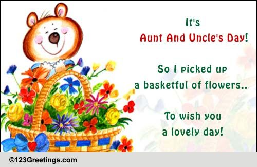 a basketful of flowers free aunt uncle 39 s day ecards. Black Bedroom Furniture Sets. Home Design Ideas