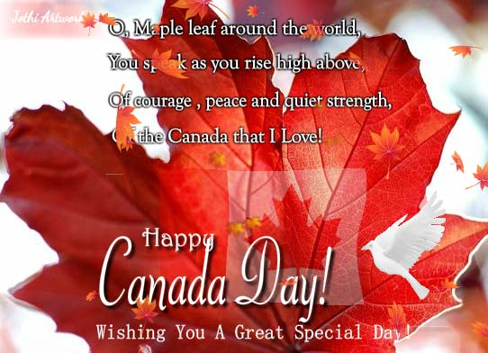 Fine Special Canada Day Wishes Free Canada Day Ecards Personalised Birthday Cards Petedlily Jamesorg