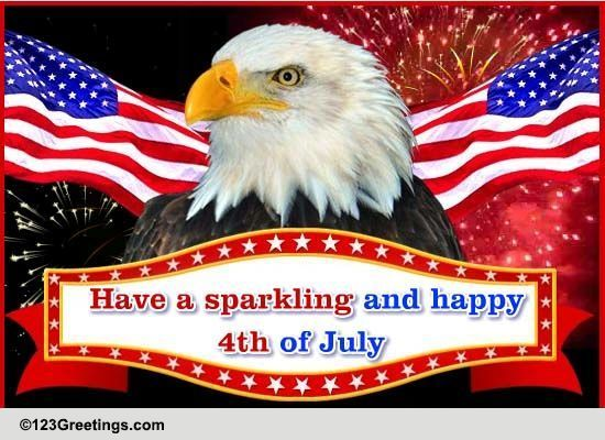 sparkling 4th july  free fireworks ecards  greeting cards