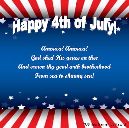 America The Beautiful Free Happy Fourth Of July Ecards
