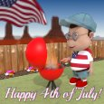 Happy Fourth Of July Barbecue.