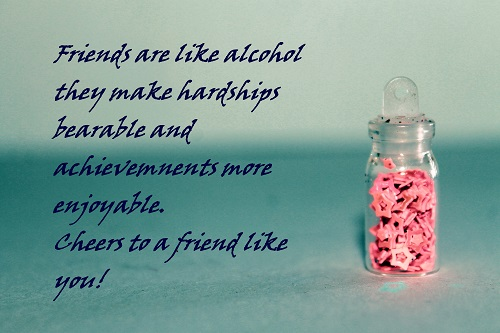 Friendship In A Bottle.
