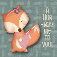 Cute Fox Bringing A Hug For You.