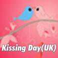 Cute Kissing Day Ecard.