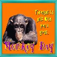 Home : Events : Monkey Day 2019 [Jul 21] - A Monkey Day Wish Card.