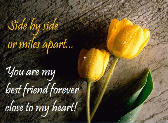 you are close to my heart  free friends forever ecards