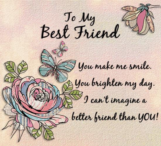 Best Friends Day Pretty Flowers.