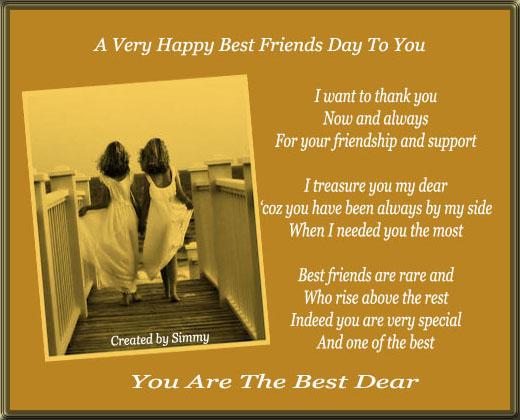 You Are The Best Dear. Free Happy Best Friends Day eCards ...