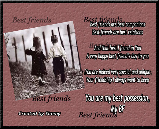 You Are My Best Possession. Free Happy Best Friends Day eCards | 123