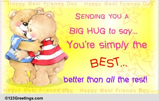 Best Friends Day Hugs Cards, Free Best Friends Day Hugs Wishes | 123