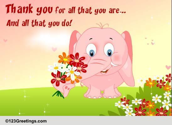 Bunch Of Thanks For Your Best Friend! Free Thank You eCards | 123 Greetings
