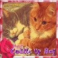 Home : Events : Cuddle Up Day 2019 [Jan 6] - Kitty Cuddles Card.
