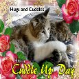Home : Events : Cuddle Up Day 2019 [Jan 6] - Cats Hug And Cuddle Card.