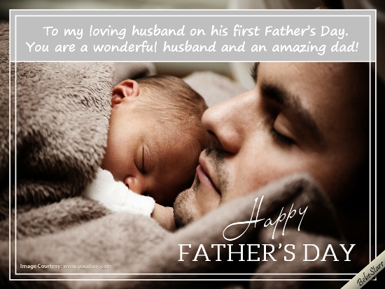 On your first fathers day free husband ecards greeting cards on your first fathers day m4hsunfo