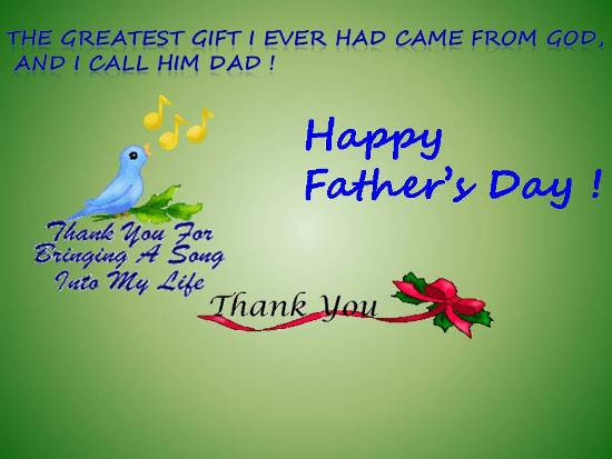Beautiful Card For Dad On Fathers Day.