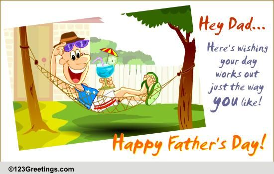 Hard Working Dad Free Happy Fathers Day eCards Greeting Cards – 123 Greetings Birthday Cards for Father