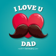 Father As Heart And Mustache!!