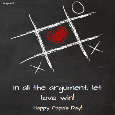 Let Love Win Over Arguments!