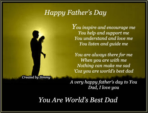 You Are World's Best Dad.