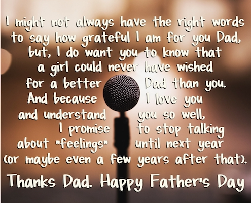From A Girl Who Loves Her Dad.