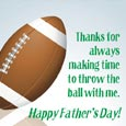Celebrate Football Dad!