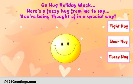 a special hug free hug holiday week ecards greeting