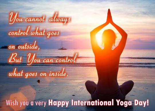 You Can Control Free International Yoga Day Ecards Greeting Cards 123 Greetings