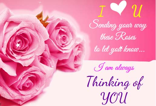 I Am Always Thinking About U Free Rose Month Ecards
